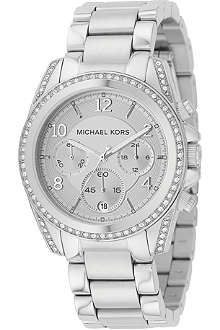 MICHAEL KORS MK5165 Jet Set silver-plated chronograph watch