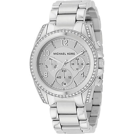 MICHAEL KORS MK5165 Jet Set silver-plated chronograph watch (Silver