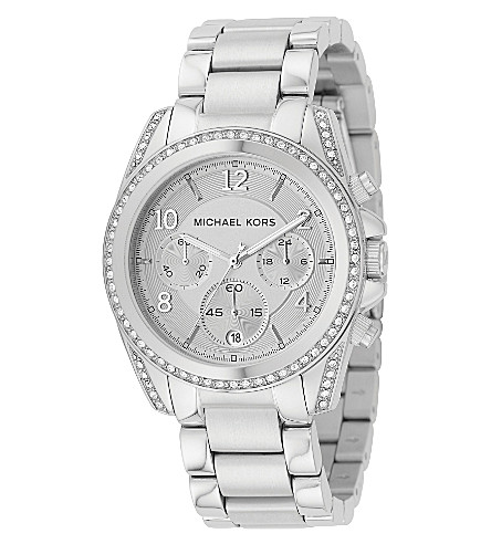 MICHAEL KORS Blair silver-plated watch (Silver