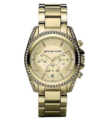 MICHAEL KORS MK5166 Blair yellow gold-plated watch (Gold