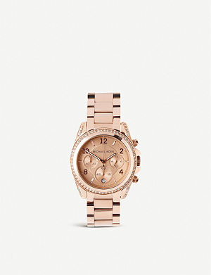 MICHAEL KORS MK5263 Blair rose gold-plated watch