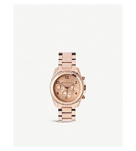 MICHAEL KORS MK5263 rose gold-plated chronograph watch (Pink