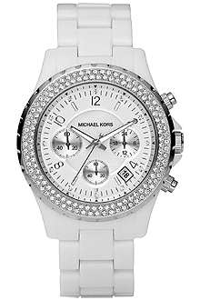 MICHAEL KORS MK5300 Jet Set stainless steel and plastic chronograph watch