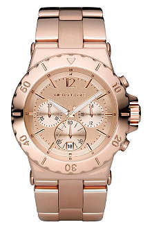 MICHAEL KORS MK5314 Rose gold-plated chronograph watch