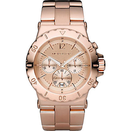 MICHAEL KORS MK5314 Rose gold-plated chronograph watch (Gold