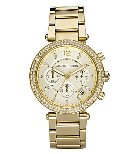 MICHAEL KORS MK5354 Parker gold-tone watch (Gold