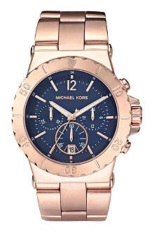 MICHAEL KORS MK5410 rose gold-plated chronograph watch