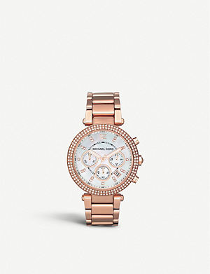 MICHAEL KORS MK5491 Parker rose gold-plated chronograph watch