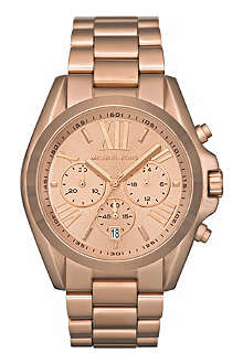 MICHAEL KORS MK5503 Bradshaw Chronograph rose-gold plated steel watch