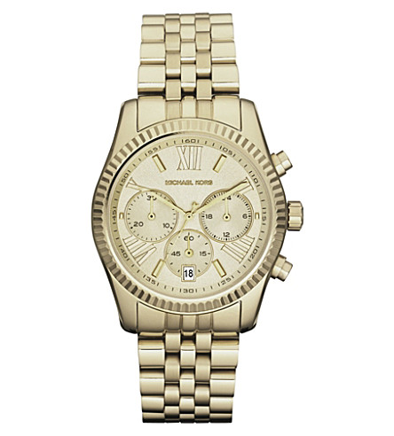 MICHAEL KORS MK5556 gold-plated chronograph watch (Gold