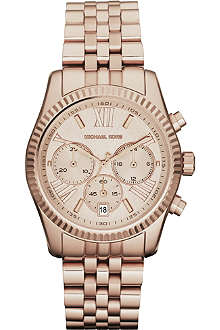 MICHAEL KORS MK5569 PVD rose gold-plated chronograph watch