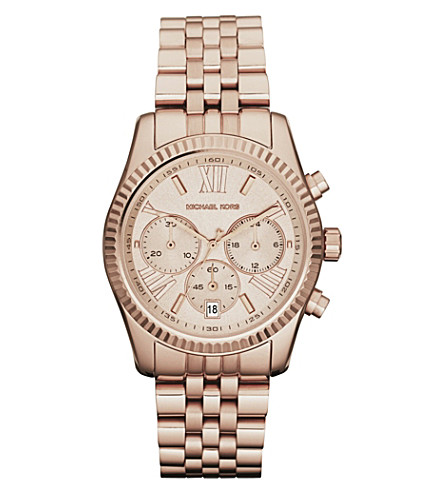 MICHAEL KORS MK5569 PVD rose gold-plated chronograph watch (Rose+gold
