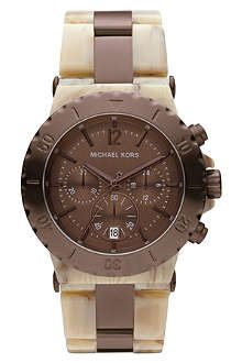 MICHAEL KORS MK5596 horn-effect resin chronograph watch