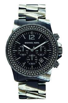 MICHAEL KORS MK5599 Safari resin chronograph watch