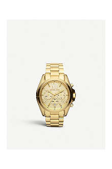 MICHAEL KORS MK5605 Bradshaw gold-plated chronograph watch