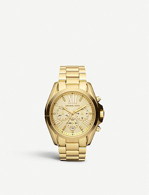 MICHAEL KORS MK5605 Bradshaw gold-plated watch