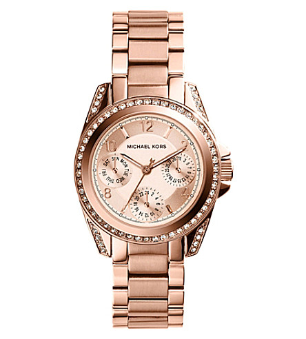 MICHAEL KORS MK5613 Mini Blair rose-gold toned stainless steel watch (Rose+gold