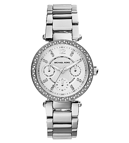 MICHAEL KORS MK5615 Parker silver-toned stainless steel watch (Silver