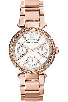MICHAEL KORS Parker Rose-Tone Stainless Steel Watch
