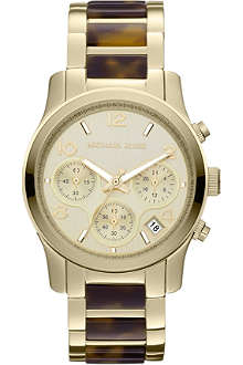 MICHAEL KORS MK5659 Runway gold-plated and tortoiseshell-effect watch