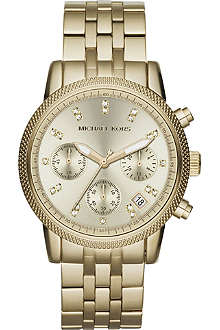 MICHAEL KORS MK5676 gold-toned chronograph watch