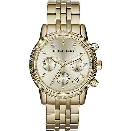 MICHAEL KORS MK5676 gold-toned chronograph watch (Gold