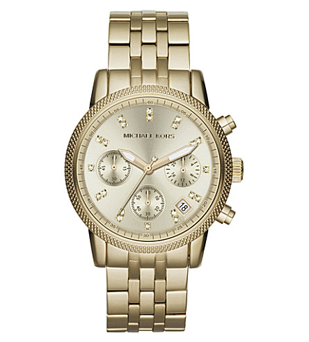 MICHAEL KORS MK5676 Ritz gold-toned watch (Gold