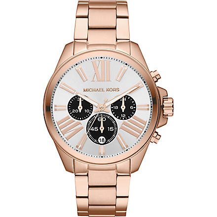 MICHAEL KORS MK5712 Wren rose gold chronograph watch (White