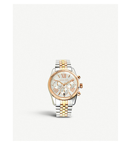 MICHAEL KORS MK5735 Bradshaw two-tone steel watch (Silver