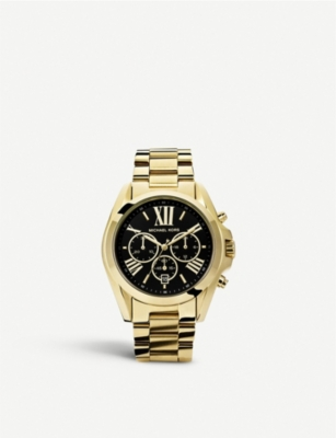 michael kors mk5739 bradshaw gold plated watch. Black Bedroom Furniture Sets. Home Design Ideas