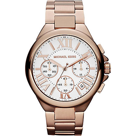 MICHAEL KORS MK5757 stainless steel chronograph watch (White