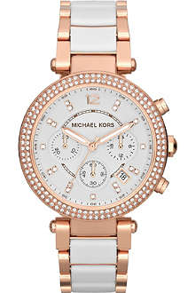 MICHAEL KORS MK5774 Parker rose gold-plate chronograph watch