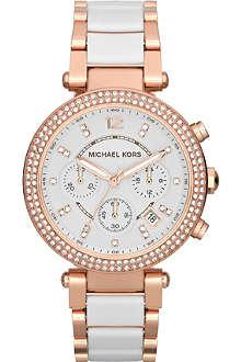 MICHAEL KORS MK5774 Parker rose gold-plate chronograph watch