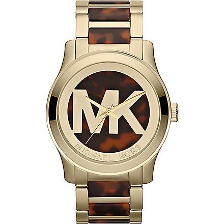 MICHAEL KORS MK5788 Runway gold-plated watch (Brown