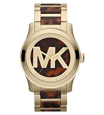 MICHAEL KORS MK5788 Runway gold-plated watch (Brown