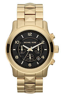 MICHAEL KORS MK5795 Pyramid Runway gold-plated chronograph watch