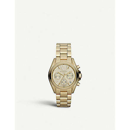 MICHAEL KORS MK5798 Mini Bradshaw gold-plated chronograph watch (Gold