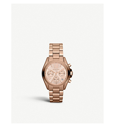 MICHAEL KORS MK5799 Mini Bradshaw rose gold-plated watch (Rose+gold