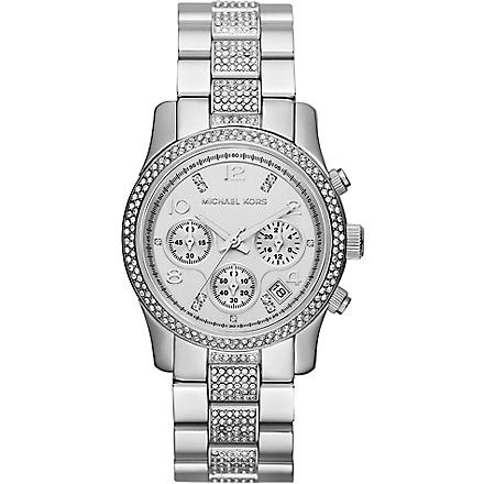 MICHAEL KORS MK5825 Runway stainless steel chronograph watch (White