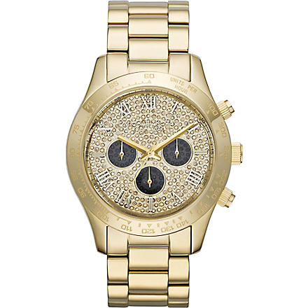 MICHAEL KORS MK5830 Layton gold-plated chronograph watch (Gold