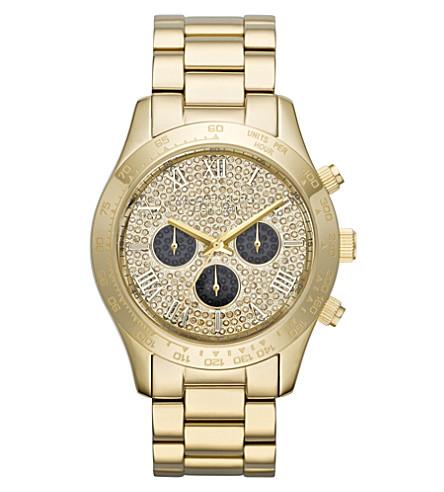 MICHAEL KORS MK5830 Layton gold-plated chronograph watch (Gold