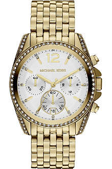 MICHAEL KORS MK5835 Pressley gold-plated chronograph watch