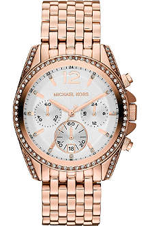 MICHAEL KORS MK5836 Pressley rose gold-toned chronograph watch