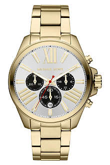 MICHAEL KORS MK5838 Wren gold-plated chronograph watch