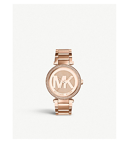MICHAEL KORS MK5865 Parker rose-gold PVD plated stainless steel watch