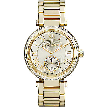 MICHAEL KORS Skylar ladies gold stainless steel watch (Gold