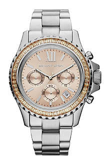 MICHAEL KORS Everest rose-gold face stainless steel watch