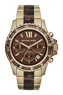 MICHAEL KORS Everest brown stainless steel watch