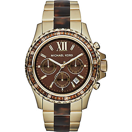 MICHAEL KORS Everest brown stainless steel watch (Brown