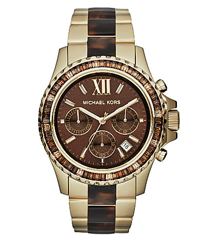 MICHAEL KORS Everest brown stainless steel watch (Brown